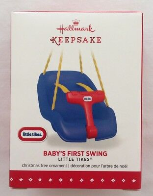 Hallmark 2015 Little Tikes Baby's First Swing Keepsake Christmas Ornament