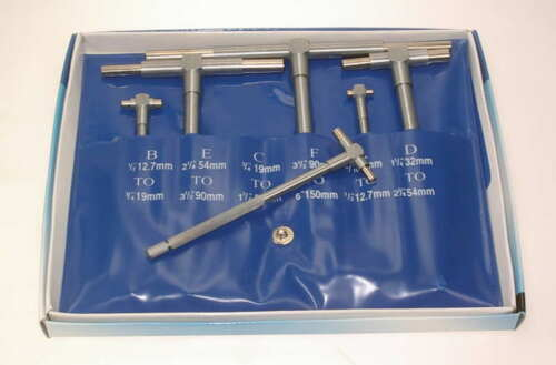 SET OF 6 TELESCOPIC BORE GAUGES FREE P/&P UK MAINLAND !