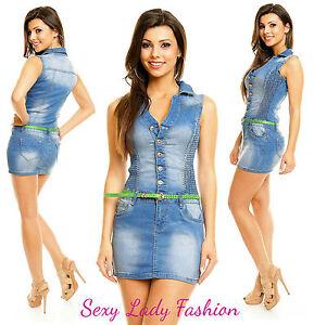 1a91e4bb28 Womens Blue Sexy Jeans Denim Blue Bodycon Mini Dress Skirt Belt Size ...