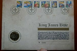 2011 King James Bible 2 £ Monnaie Dans Royal Mail stamp cover FDC