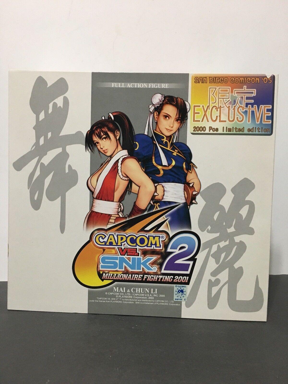 Capcom vs. SNK 2 Millionaire Fighting 2001 SDCC '05 Exclusive Mai & Chun Li Set