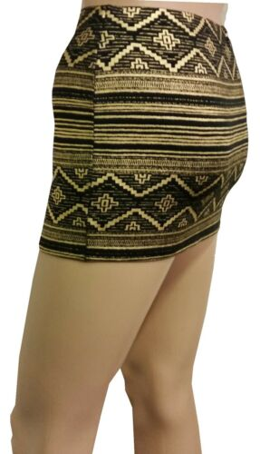 NEW HOT LADIES WOMENS BLACK FOIL PRINTED  FITTED MICRO MINI SKIRT SIZE 4 to 20