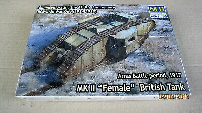 "Arras Battle 1917    1//72 Master Box  # 72006 Mk.II /""Female/"" British Tank"
