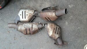 Lot of 4 Scrap Catalytic Converter Converters Cat for ...