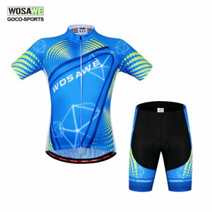 Mens-Cycling-Jersey-Shorts-Set-Short-Sleeve-Team-Bike-Clothing-Shirts-Pants-Kit