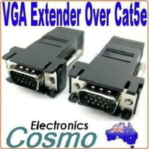 2-x-VGA-Extender-Extention-over-66FT-30M-CAT5-CAT6-RJ45-Cable-Adapter-Connector
