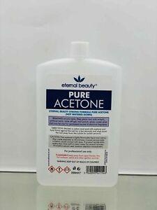 100% Pure Acetone Superior Quality Nail Polish Remover UV/LED GEL Soak Off 250M