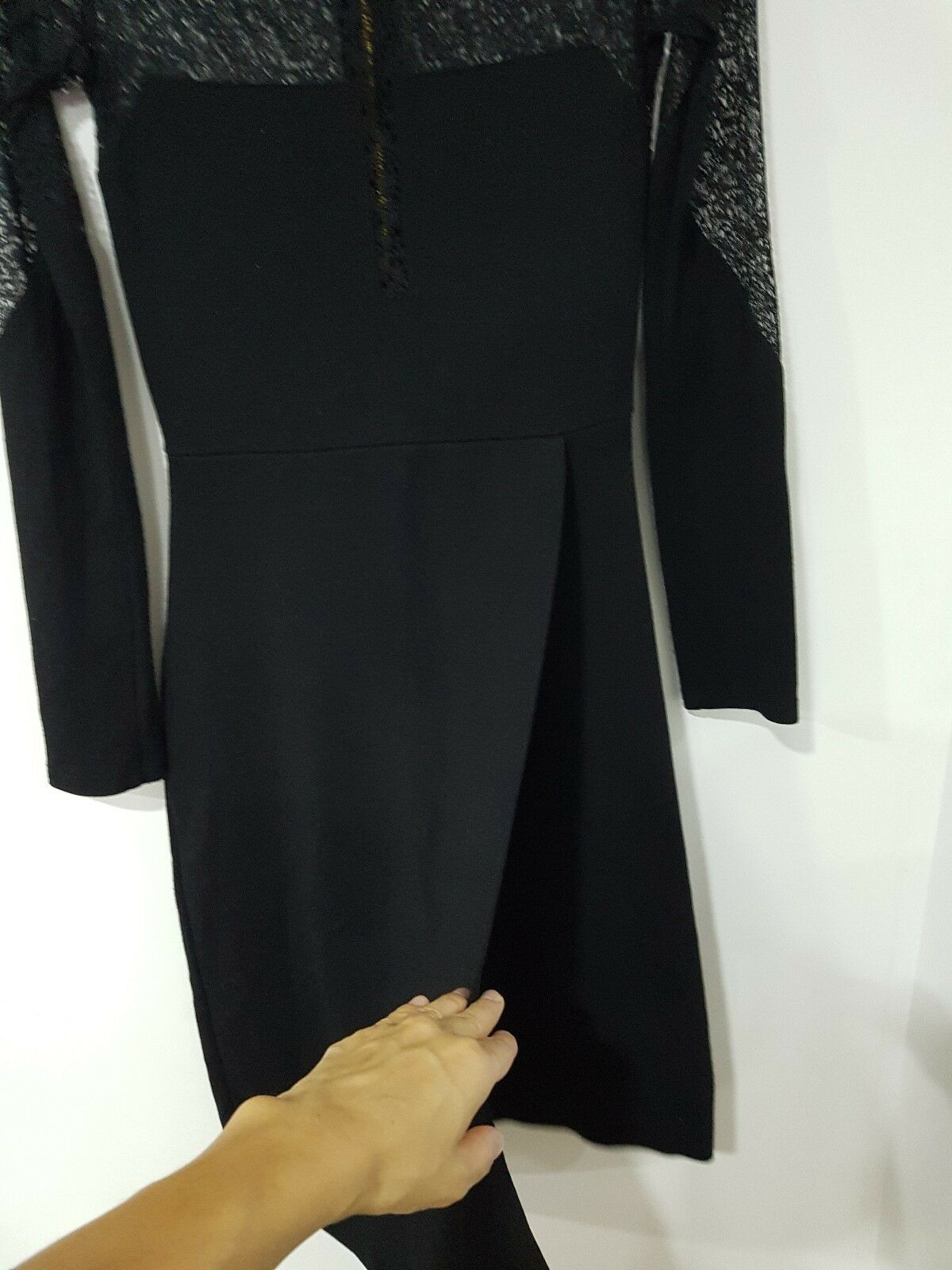 French Connection stunning lace detail long sleeve dress dress dress size e45bb0