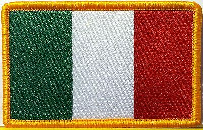ITALY FLAG PATCH With VELCRO® Brand Fastener ITALIAN EMBLEM ITALIA TOPPA #1