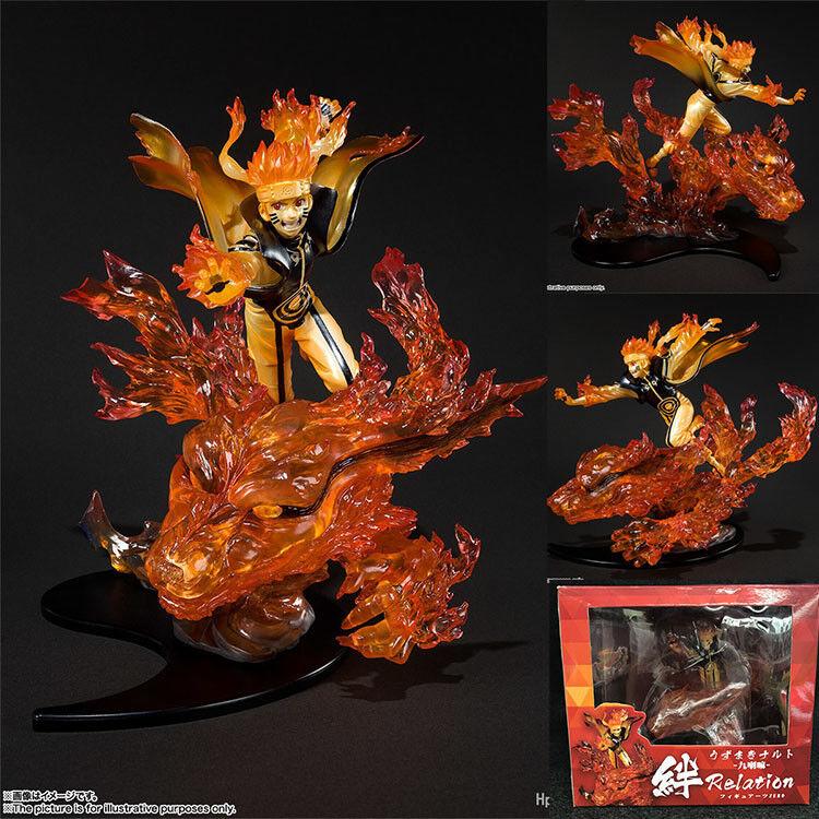 1 Pcs 20CM Naruto Anime Estatua Figura de Acción Juguetes de dibujos animados lindo en Colección de PVC