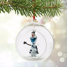 FROZEN OLAF CHRISTMAS TREE ORNAMENT GLASS GLOBE DISNEY HOLIDAY SKETCHBOOK NEW
