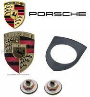Hood Emblem Crest Logo Badge Kit For Porsche 911 912 914 924 928 930 944 968 on sale