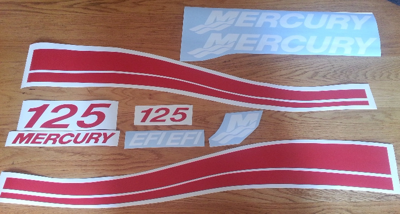 Mercury outboard motor cowl decals stickers graphics kits