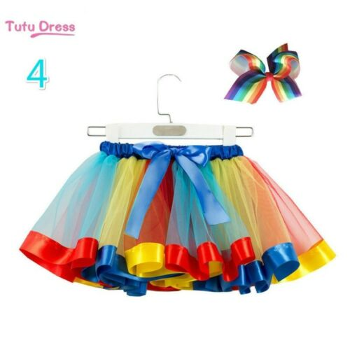 Baby Girl Tutu Skirt Layer Colorful Fancy Tulle Crinoline Petticoat Bow Cute New