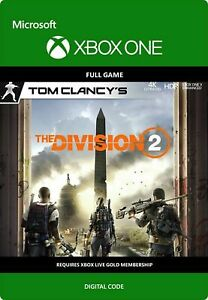 Details about Tom Clancy's The Division 2 Xbox One Digital Download Card  REGION FREE NEW
