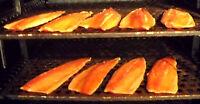 1 Seite Norwegischer Lachs (Kaltrauch). Räucherfisch aus dem Norden
