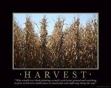Farming Motivational Poster Art Print Poster Farmall IH Tractor 11x14 MVP42