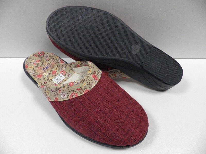 Chaussons LA VAGUE fidji rouge bordeaux FEMME taille 42 slippers woman red NEUF