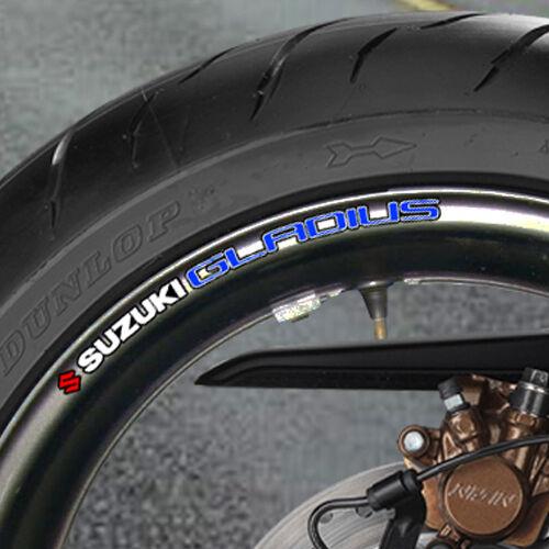 sv650 sv 650 s 650s minitwin twin 8 x SUZUKI SV650S Wheel Rim Stickers Decals