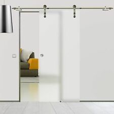 Soft Stop Glasschiebetür Glastür Edelstahl 775x2050mm matt BS-775DA