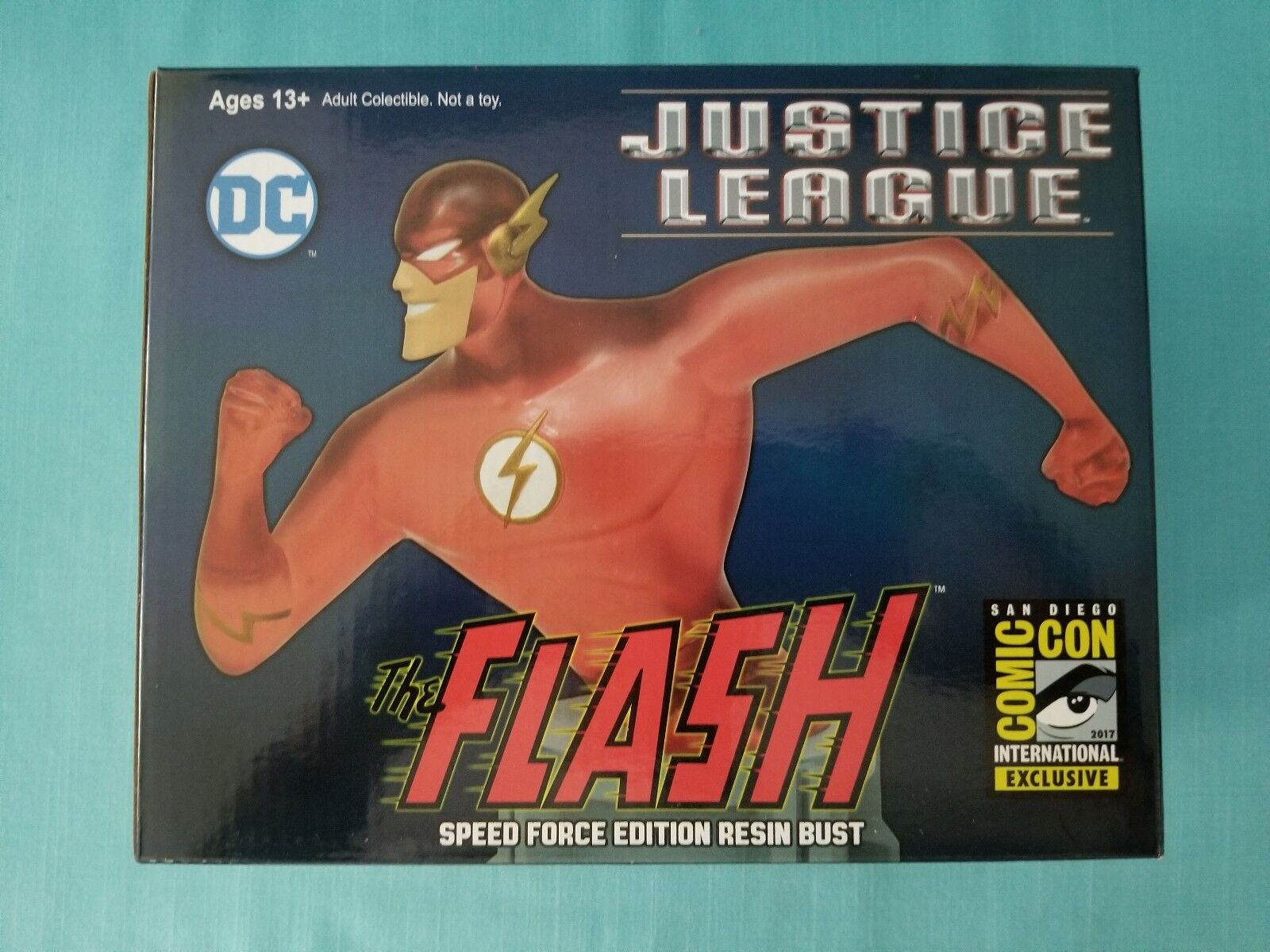 JUSTICE LEAGUE DC   FLASH  SDCC 2017 EXCLUSIVE  SPEED FORCE RESIN BUST LE BNIB