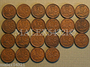 CANADA-NICE-1940-TO-1960-SET-OF-1-CENT-22-COINS-gt-gt-FREE-HIPPING-IN-CANADA-lt-lt