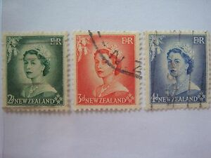 RB-061-1953-N-Zealand-Q-E-II-Stamps-Lot-1-Used