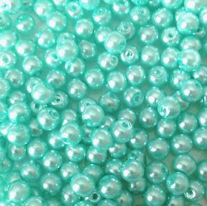 schmuck machen 4mm Glas künstlich perlen strang über 200 Perlen Türkis