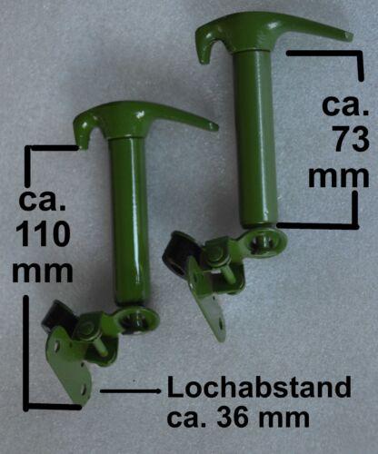 1 Paar Haubenhalter aus Metall ca 110 mm lang Traktor Schlepper Bulldog   10030
