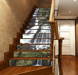 3D Cliff Falls 145 Stair Risers Decoration Photo Mural ...