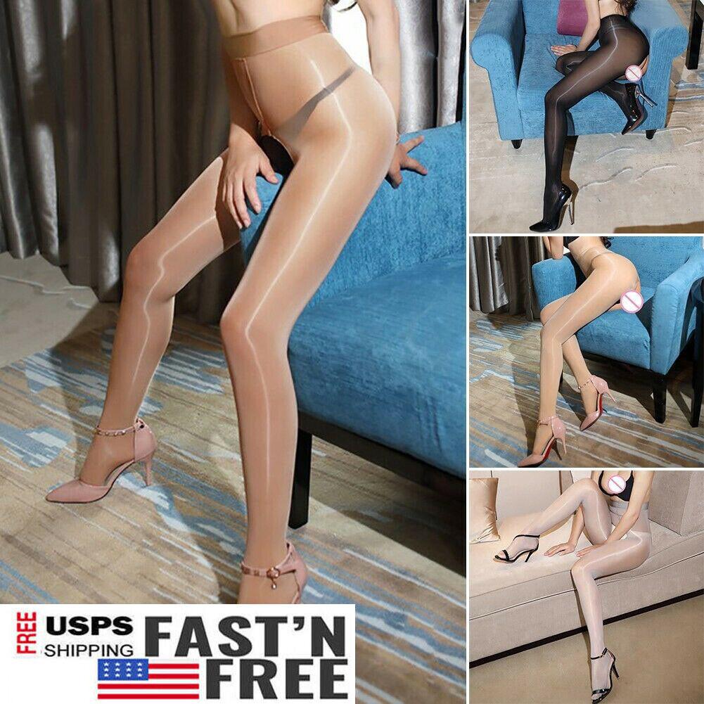 Pantyhose Club shiny glossy crotch/crotchless sheer stockings club dance nylon tights pantyhose