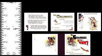 1:12 SCALE MINIATURE BOOK THE GOLLIWOGG/'S FOX-HUNT DOLLHOUSE SCALE