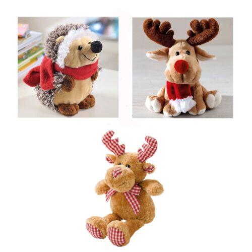 3er Set Weihnachts Plüsch Tiere Kuschel Weihnachten Dekoration Deko Figuren NEU