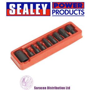 SEALEY-Impact-Hex-Bit-amp-Holder-Set-9pc-1-2-034-sq-Drive-ak5609