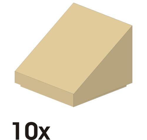10 St 50746//54200 NEUE Dachsteine 1x1x2//3  30° tan // beige 449