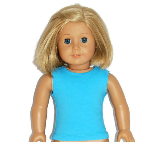 """fits 18/"""" American Girl Dolls Doll Clothes TURQUOISE COTTON TANK TOP"""