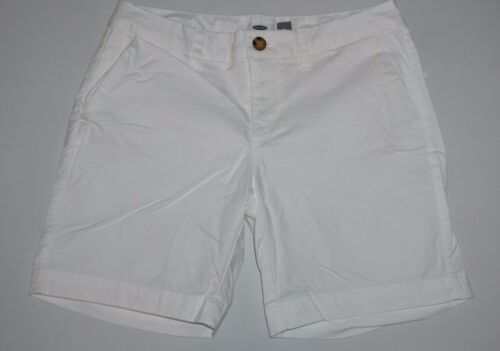 Old Navy Pure White Chino Shorts Women/'s Size 4 NWT