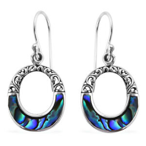 Sterling-925-Silver-Abalone-Shell-Dangle-Drop-Earrings-Jewelry-for-Her-Gift