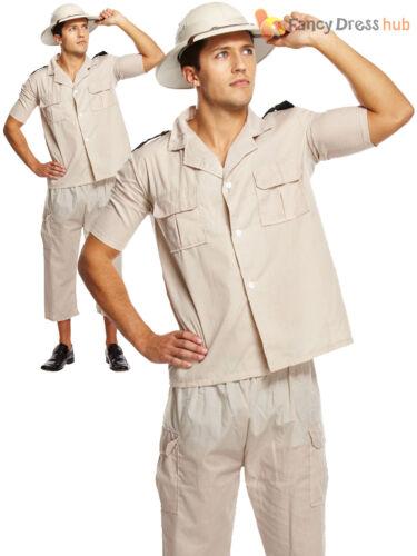 Adult Safari Explorer Costumer Mens Zookeeper Fancy Dress Crocodile Hunter