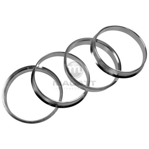 4 anillas de centrado aluminio Alu anilla 74,1-72,6