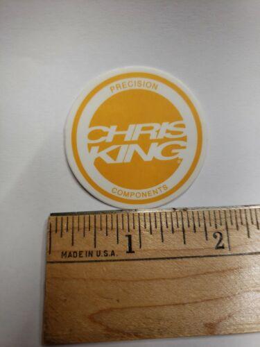 """1.5/"""" Chris King vélo jaune//blanc Precision Components Autocollant Decal"""