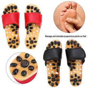 db0eb8bfe600 Image is loading Mens-Acupressure-Massage-Slipper-Shoes-Sandal-Acupuncture- Foot-
