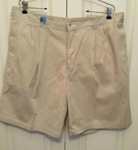 Geoffrey-Beene-Mens-Shorts-Khaki-beige-size-40