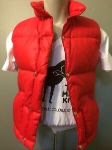 569d52d32 Details about Vtg 70s 80s North Face Down Puffy Ski Vest Mens XXS Red Rip  Stop Brown Label TNF
