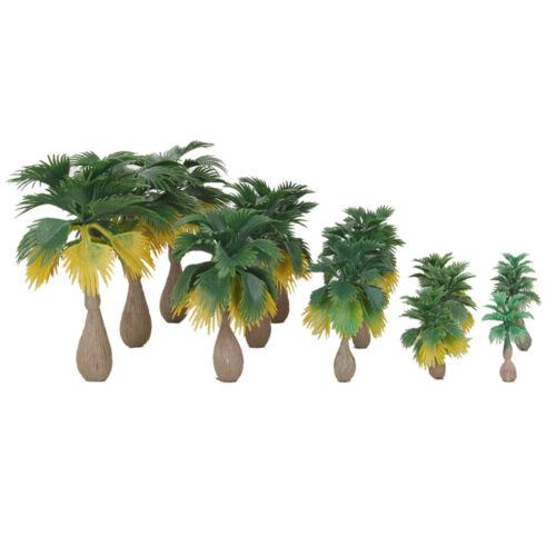 15 Stücke Modell Palm Tree Waldpflanzen Machen Zubehör Ho N Z Skala Zug