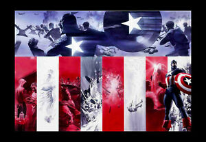 Alex-Ross-Origins-Captain-America-Marvel-Comic-Book-Hero-Art-Matted-Lithograph