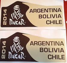 2 x DAKAR 2014 ARGENTINA BOLIVIA CHILE RALLY RAID OFF ROAD 4x4  FREE POSTAGE