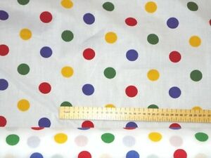 10-m-Pudsey-Bear-Fabric-Small-Coloured-Polka-Dot-Material-Children-In-Need