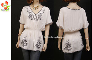 70-039-s-Boho-Hippie-Ivory-Embroidered-Fairy-Peasant-Blouse-Tunic-Shirt-Top-S-M-L-XL