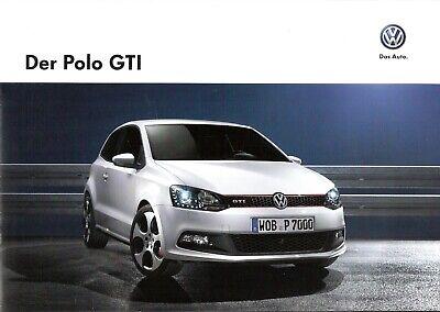 Nauwkeurig Prospekt / Brochure Vw Polo Gti 05/2013 Mit Preisliste 2019 Official